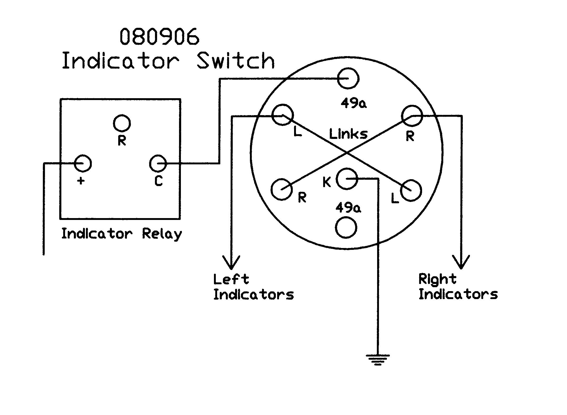 Rotary Switch Black Plastic Lever And Integral Red Warning Lamp Automotive Hazard Wiring Diagram Free Download Downloads 080906 Indicator Switches