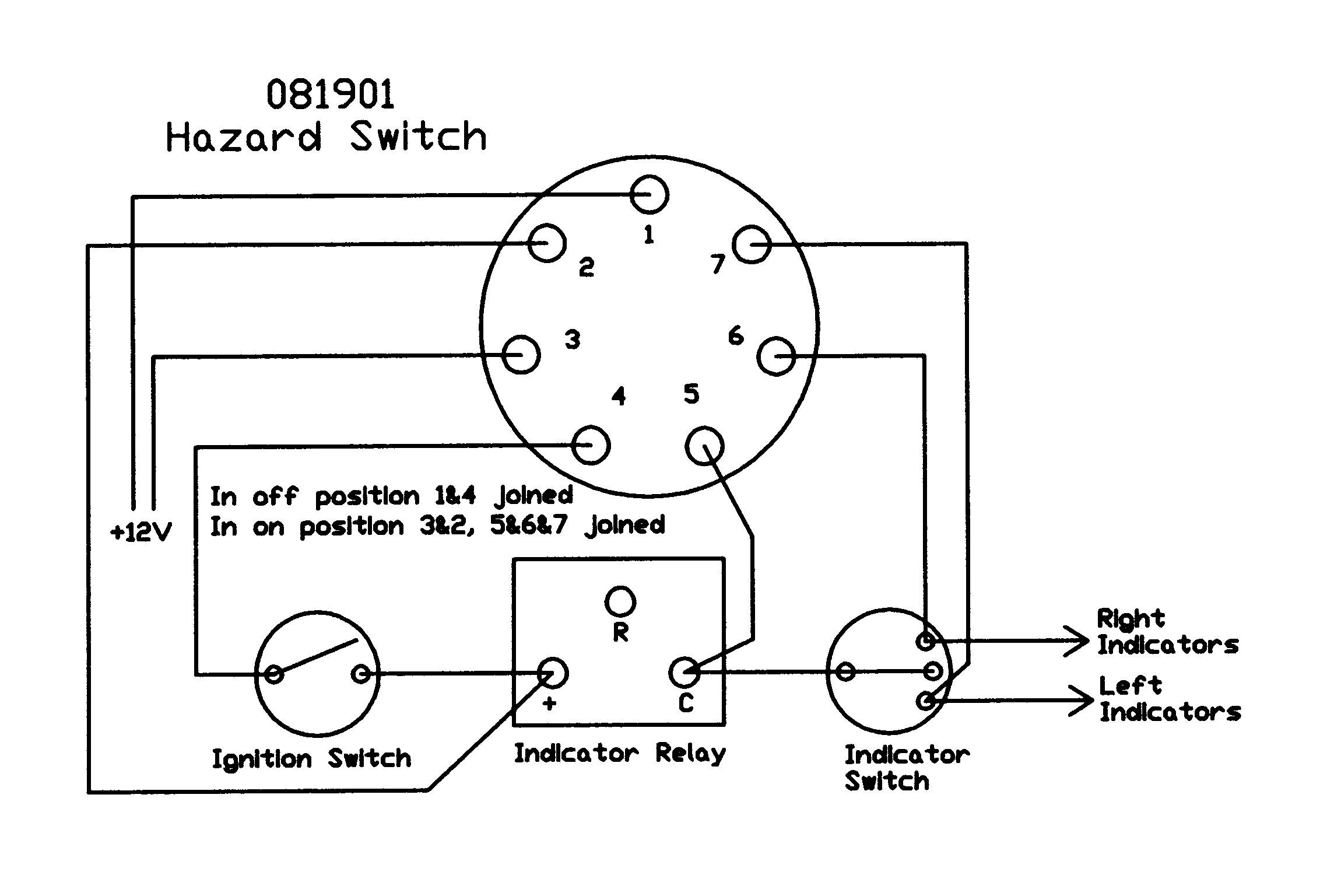 Austin A30 A35 Owners Club View Topic Hazard Warning Lights Basic Switch Wiring Diagram Re