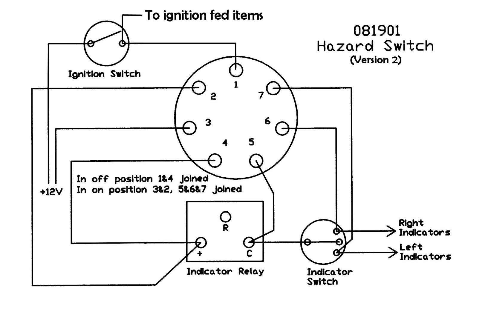 durite ignition switch wiring diagram durite image panel mounted push on hazard switch on durite ignition switch wiring diagram