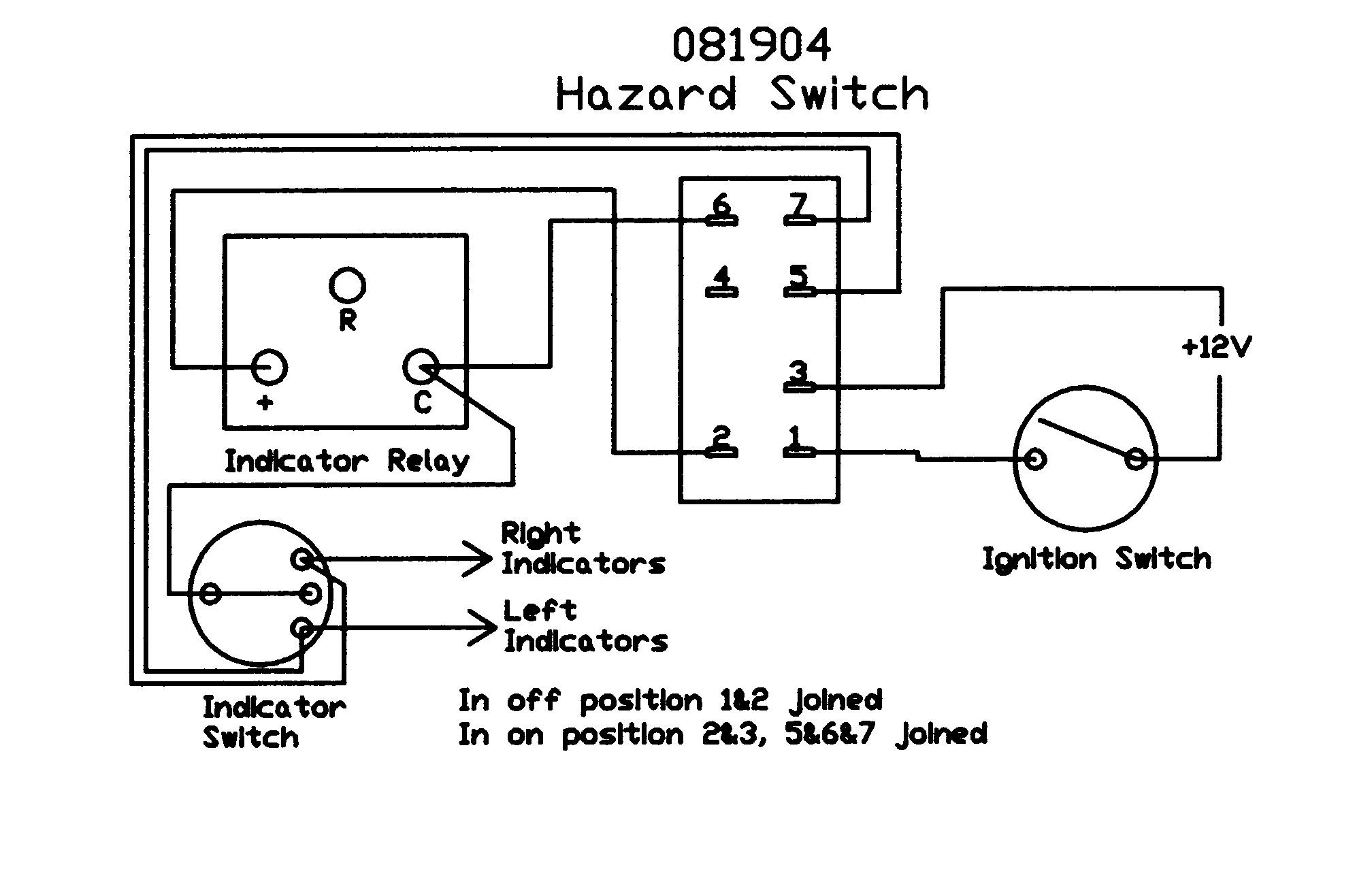 Wiring Diagram For 12v Indicators : Hazard switch rocker