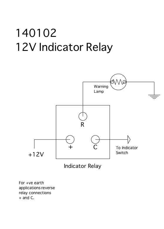 Wiring Diagram For 12v Indicators : V electronic terminal positive and negative earth