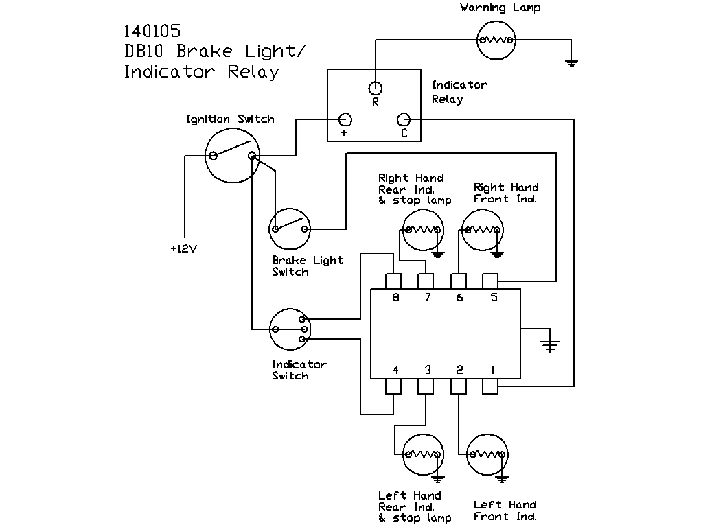 Lucas Db10 Style Flasher Unit Relay Circuit Wiring Diagram 140105