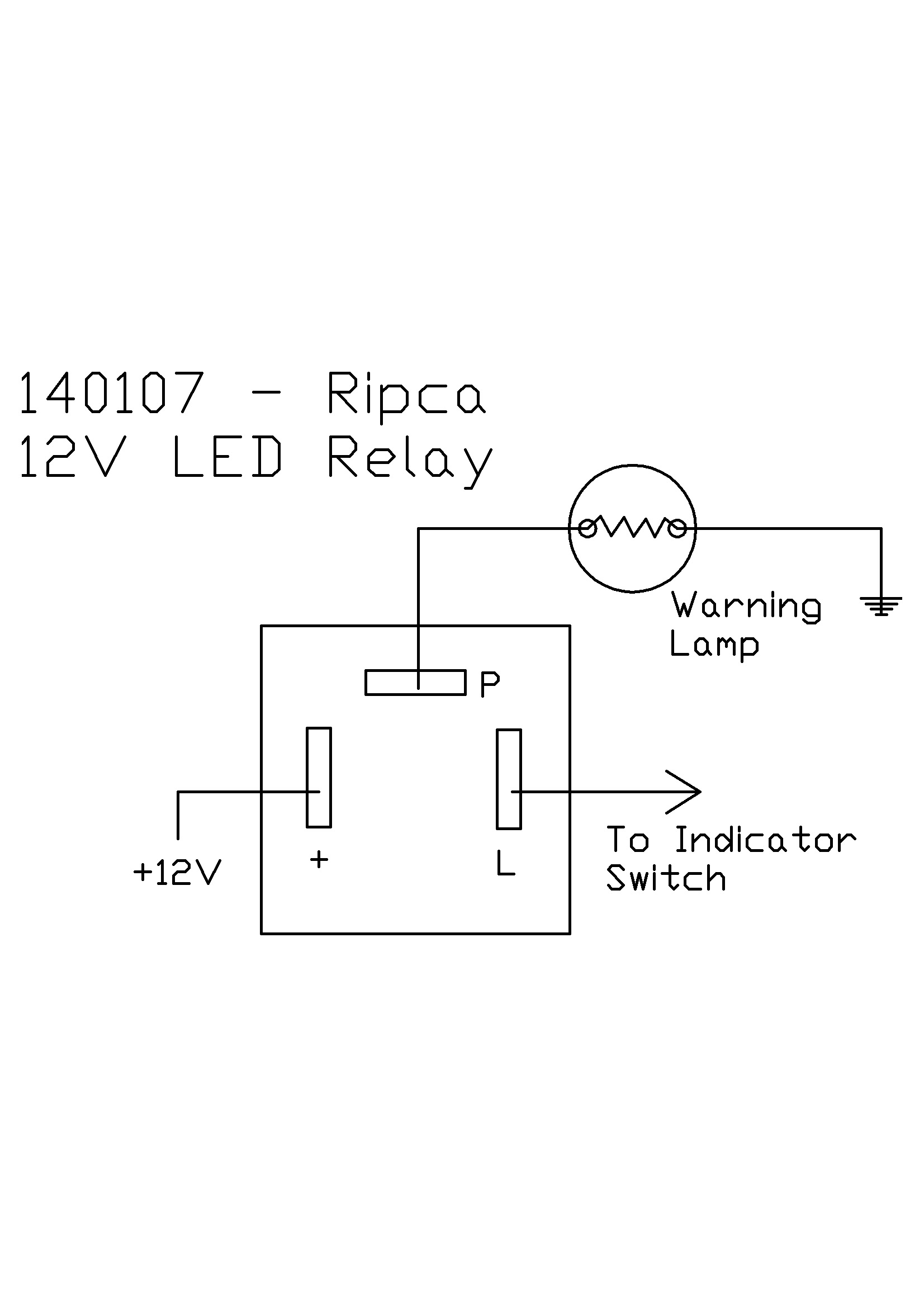12 Volt Led Flasher Unit Relay Circuit Wiring Diagram Downloads