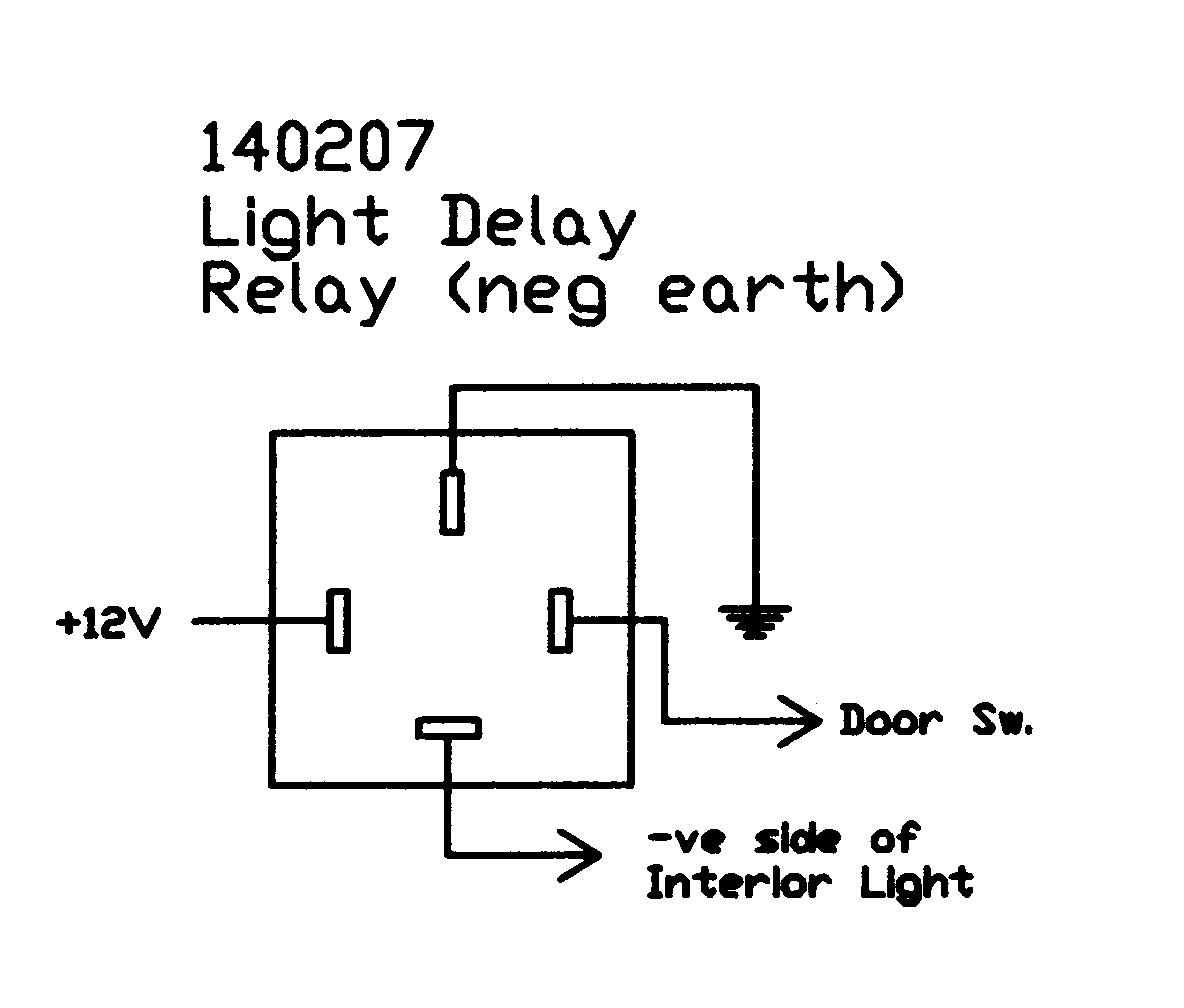 Wiring Diagram Car Relay : Interior light delay relay