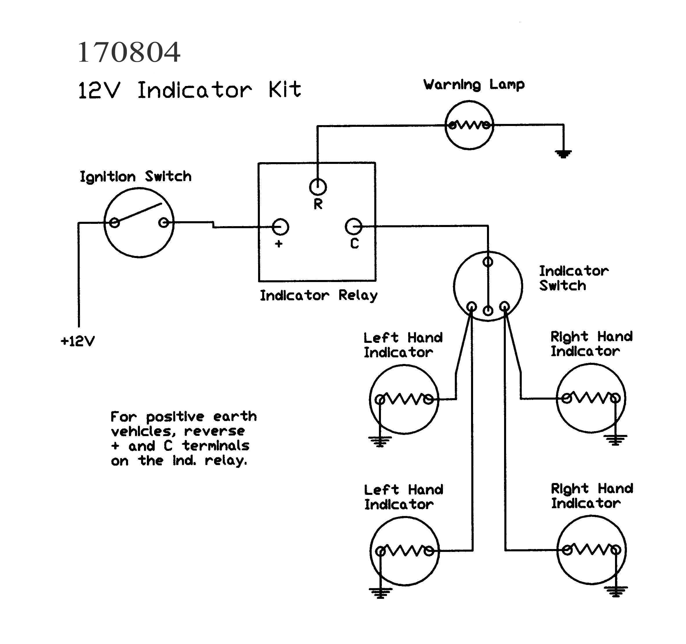 Basic Vespa 12v Wire Diagram Guide And Troubleshooting Of Wiring Indicator Kits Without Lamps Electrical Diagrams Schematics