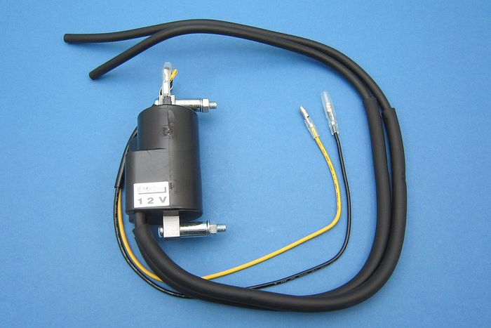IGNITION COIL, TWIN LEAD - 6V & 12V