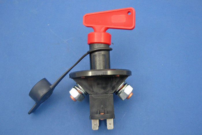 product image for Battery isolator switch - removable key, splash proof cover, independent ignition switch