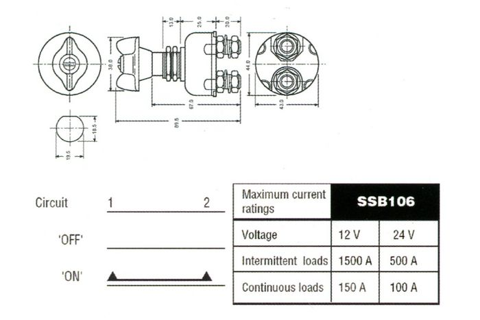 product image for Dispositif coupe-batterie Lucas SSB106