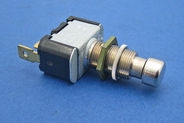 Push/push button switch. Metal button, metal housing