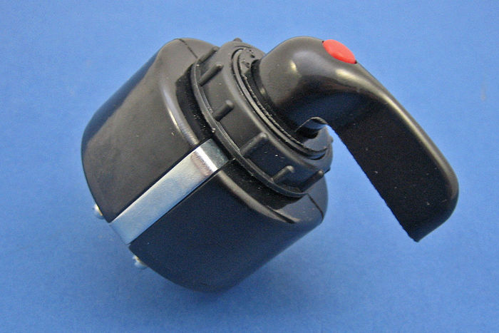 product image for Rotary switch - black plastic lever and integral red warning lamp