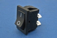 On/off rocker switch - 4.8mm blade terminals, 30 x 11mm