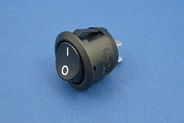 On/off rocker switch - 4.8mm blade terminals, 20mm dia
