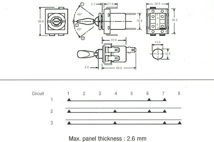 lucas wire diagram symbols lucas 31788 57sa - off/ona/on a+b