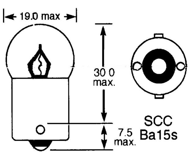 product image for BA15s (Single Contact) - Small Globe