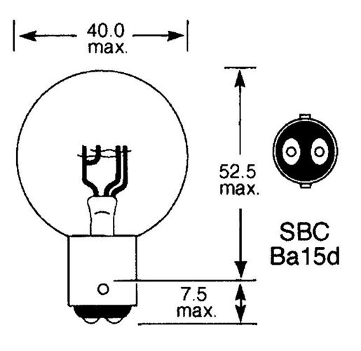 product image for BA15d (Double Contact)
