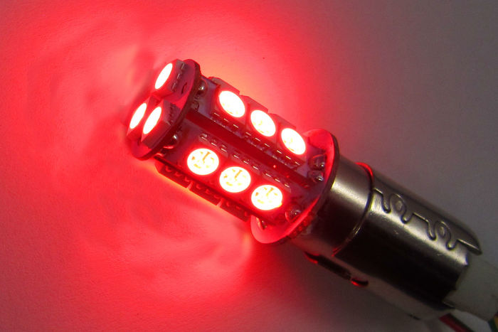 product image for Red LED feu stop/arrière BAY15d