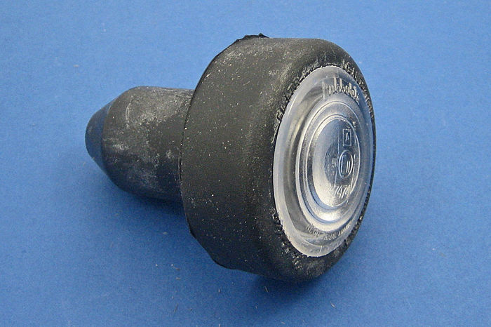 Rubber bodied side lamp
