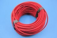 APPROX 50M OF BRAIDED HT CABLE - RED