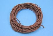 APPROX 23M OF 1MM² BRAIDED CABLE - BROWN