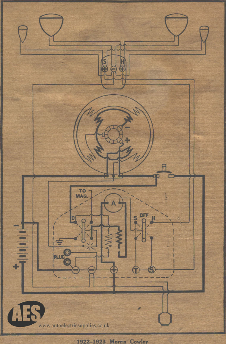 Morris Toggle Switch Wiring Diagram Not Lossing A Double Pole Uk 1923 Cowley Rh Autoelectricsupplies Co Single